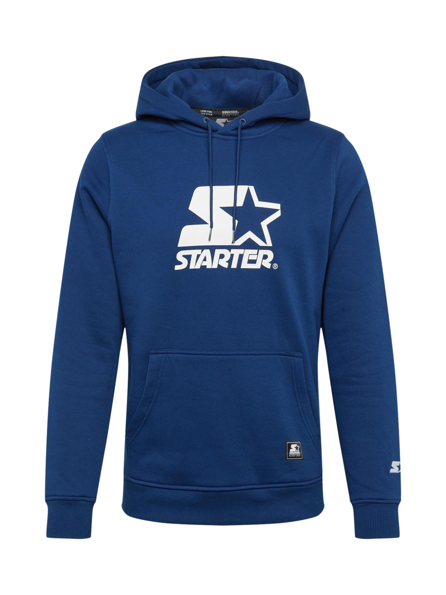 Starter Black Label Megztinis be užsegimo nakties mėlyna / balta