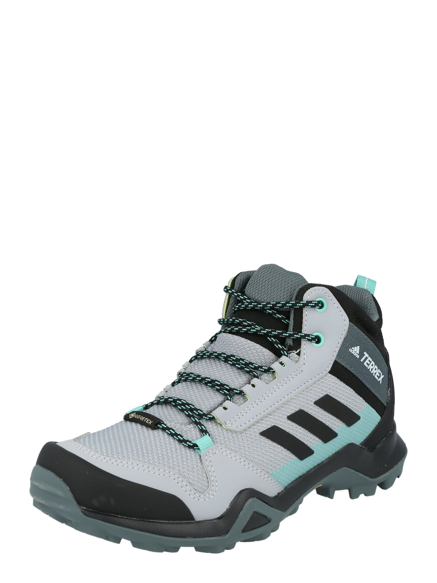 ADIDAS PERFORMANCE Sportiniai batai 'TERREX AX3 MID GTX' pilka / bazalto pilka / mėtų spalva / balta