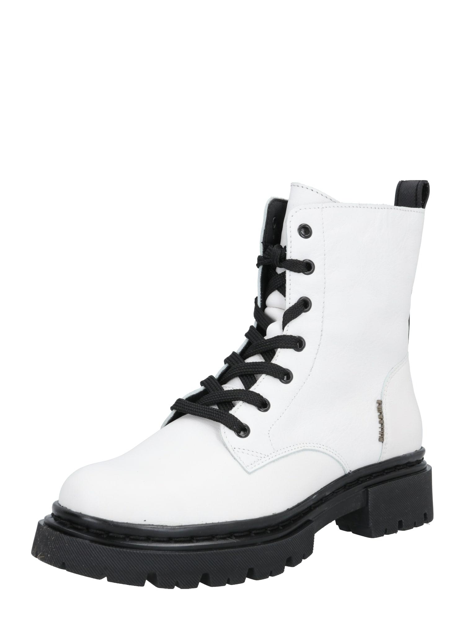 BULLBOXER Suvarstomieji kulkšnis dengiantys batai balta
