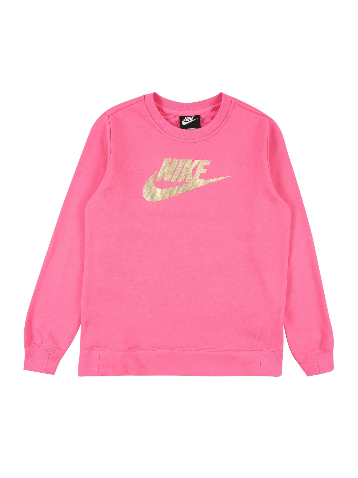 Nike Sportswear Megztinis be užsegimo auksas / rožinė