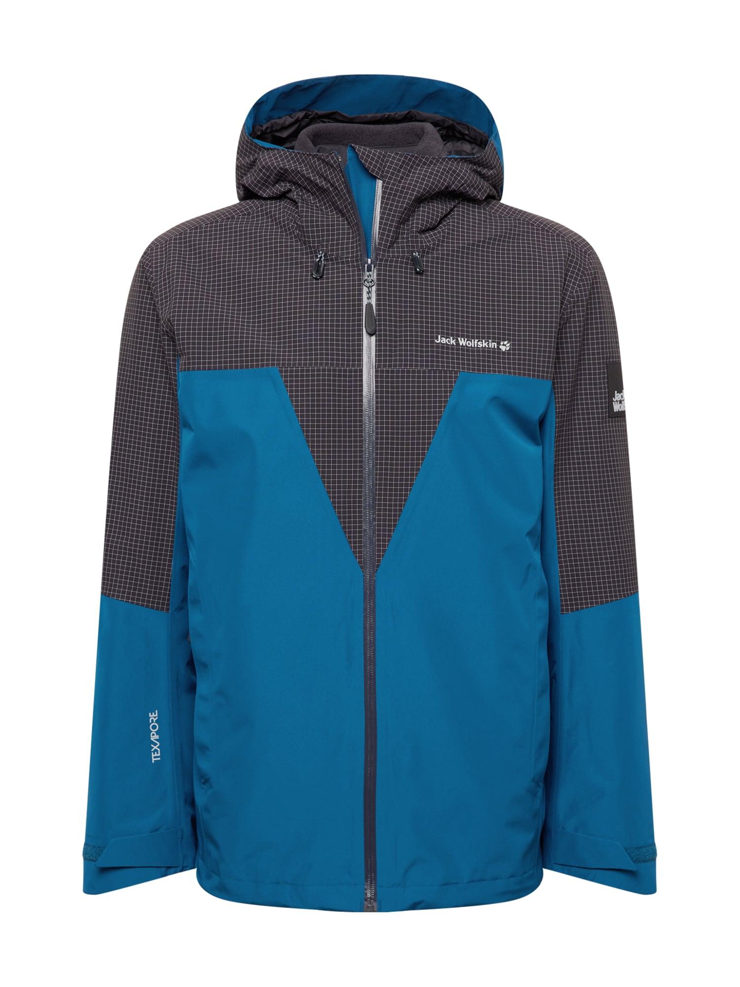 JACK WOLFSKIN Outdoorová bunda 'DNA RHAPSODY'  nebeská modř / černá / bílá