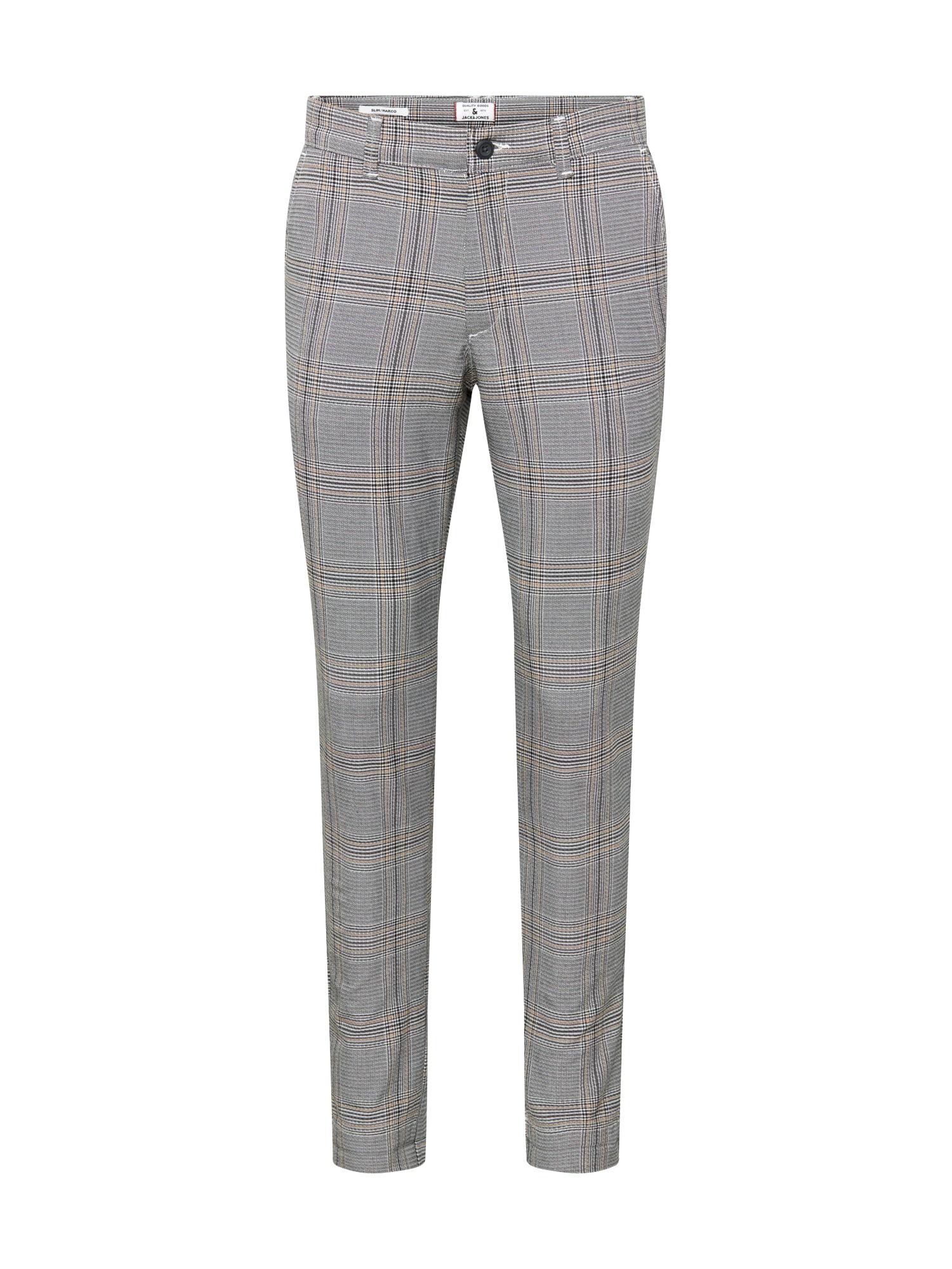 JACK & JONES Chino kalhoty 'Marco Stuart'  bílá / světle béžová / šedá