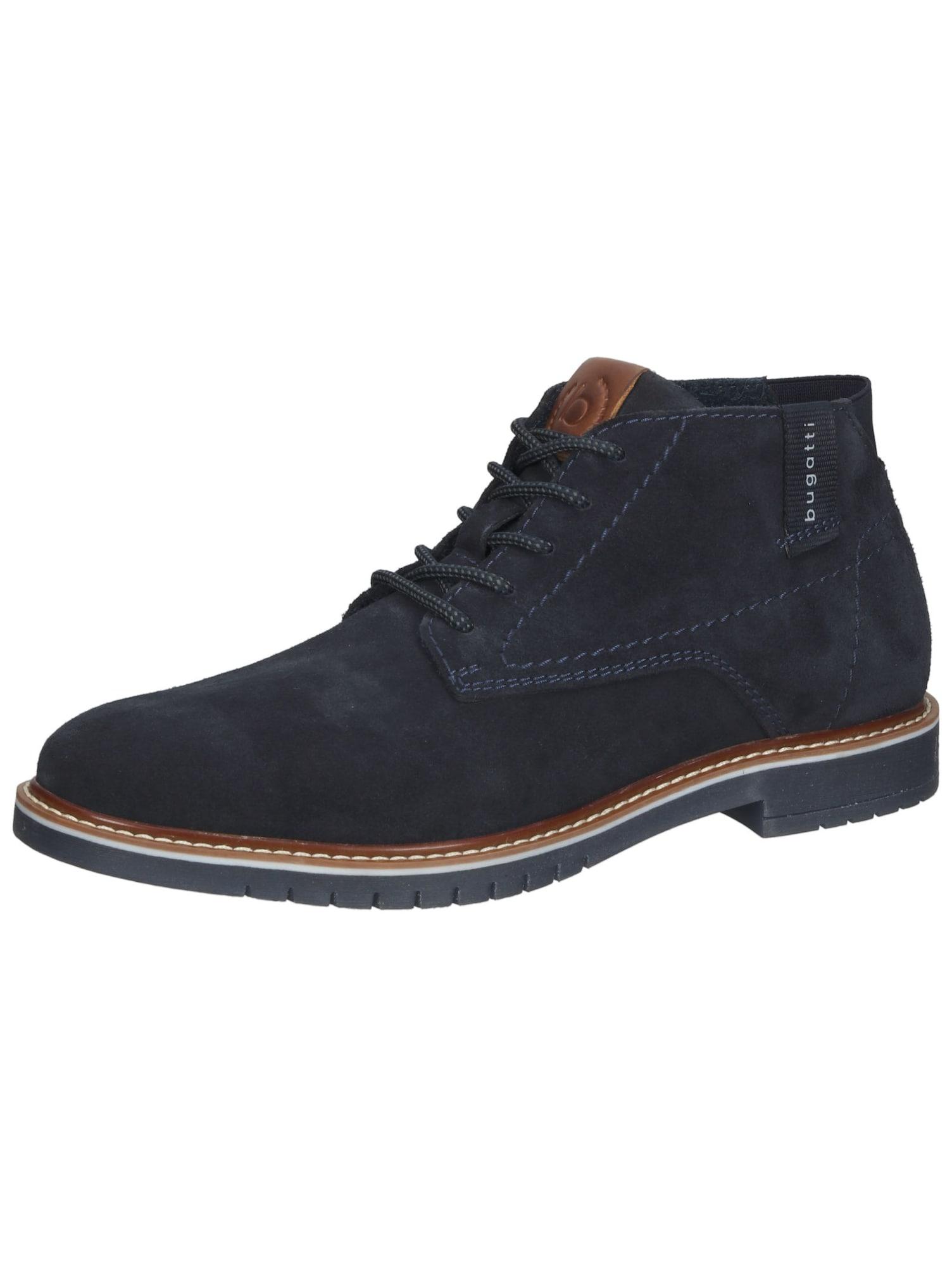 bugatti Auliniai batai su raišteliais nakties mėlyna / karamelės