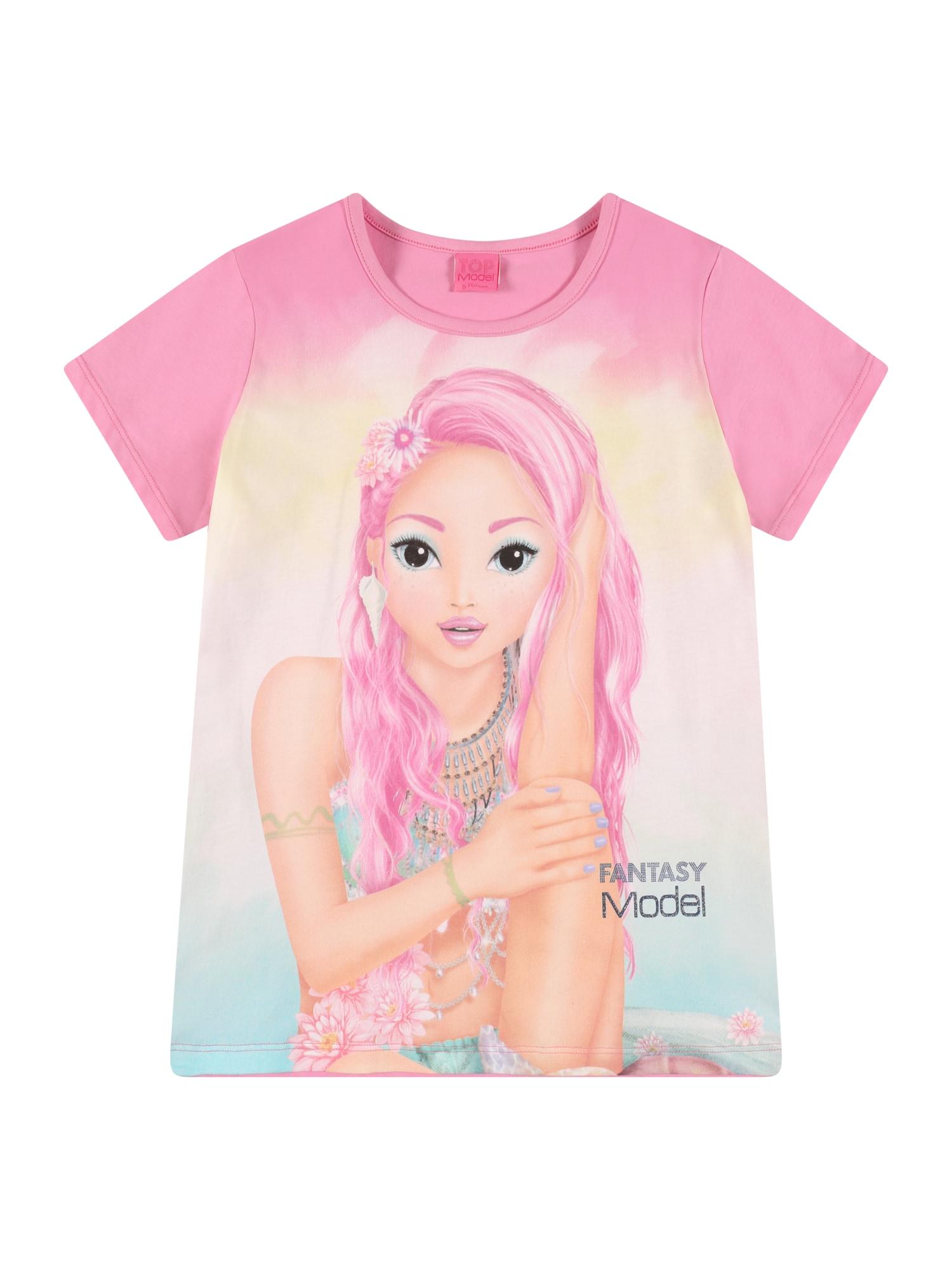 TOP MODEL Marškinėliai rožinė / mišrios spalvos