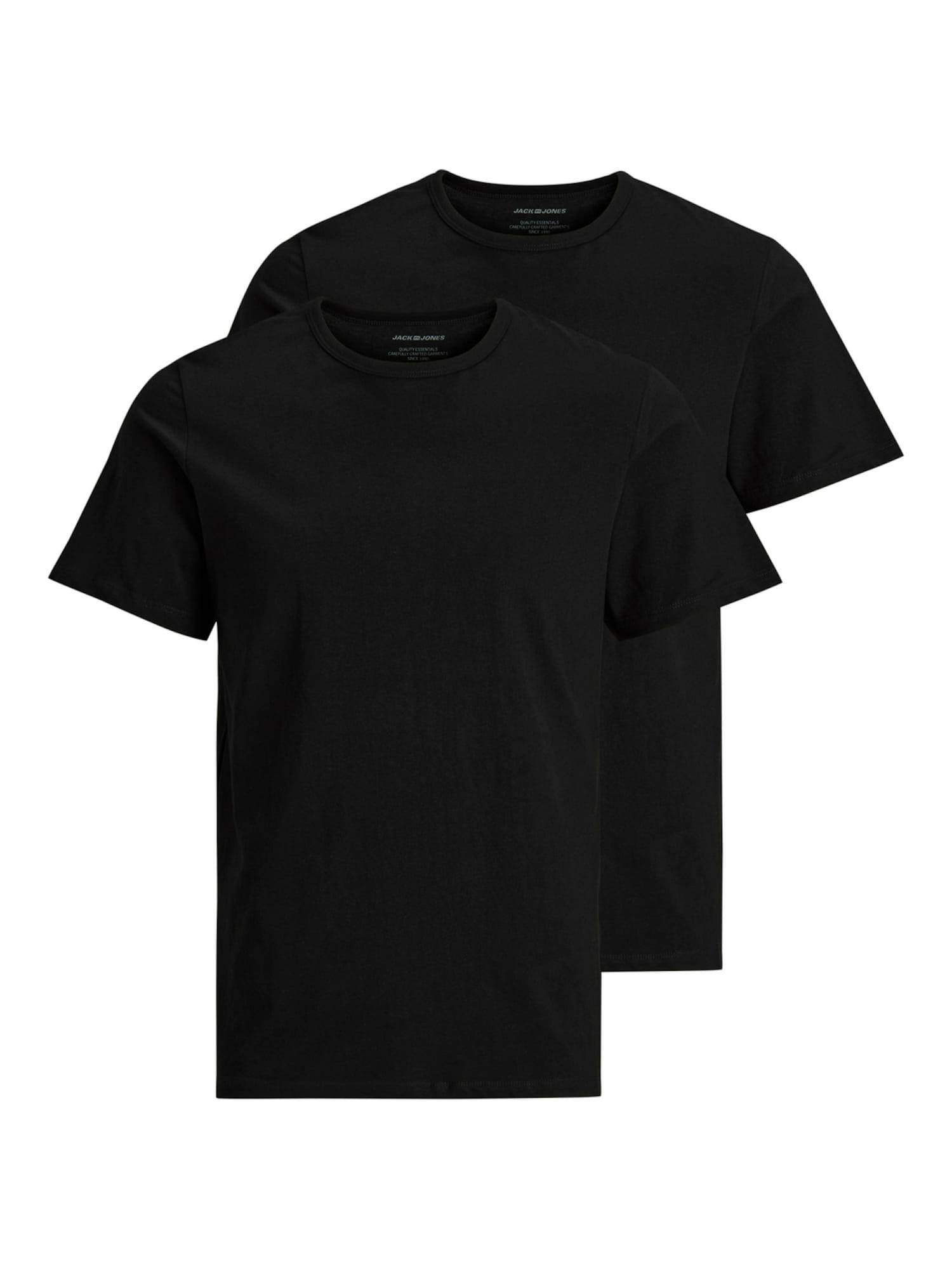 JACK & JONES Apatiniai marškinėliai juoda