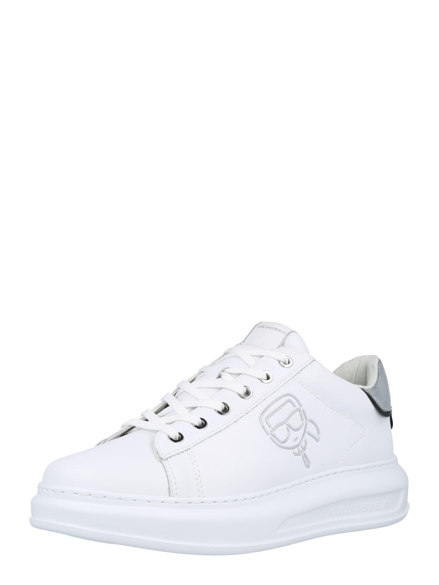Karl Lagerfeld Tenisky  bílá / stříbrná