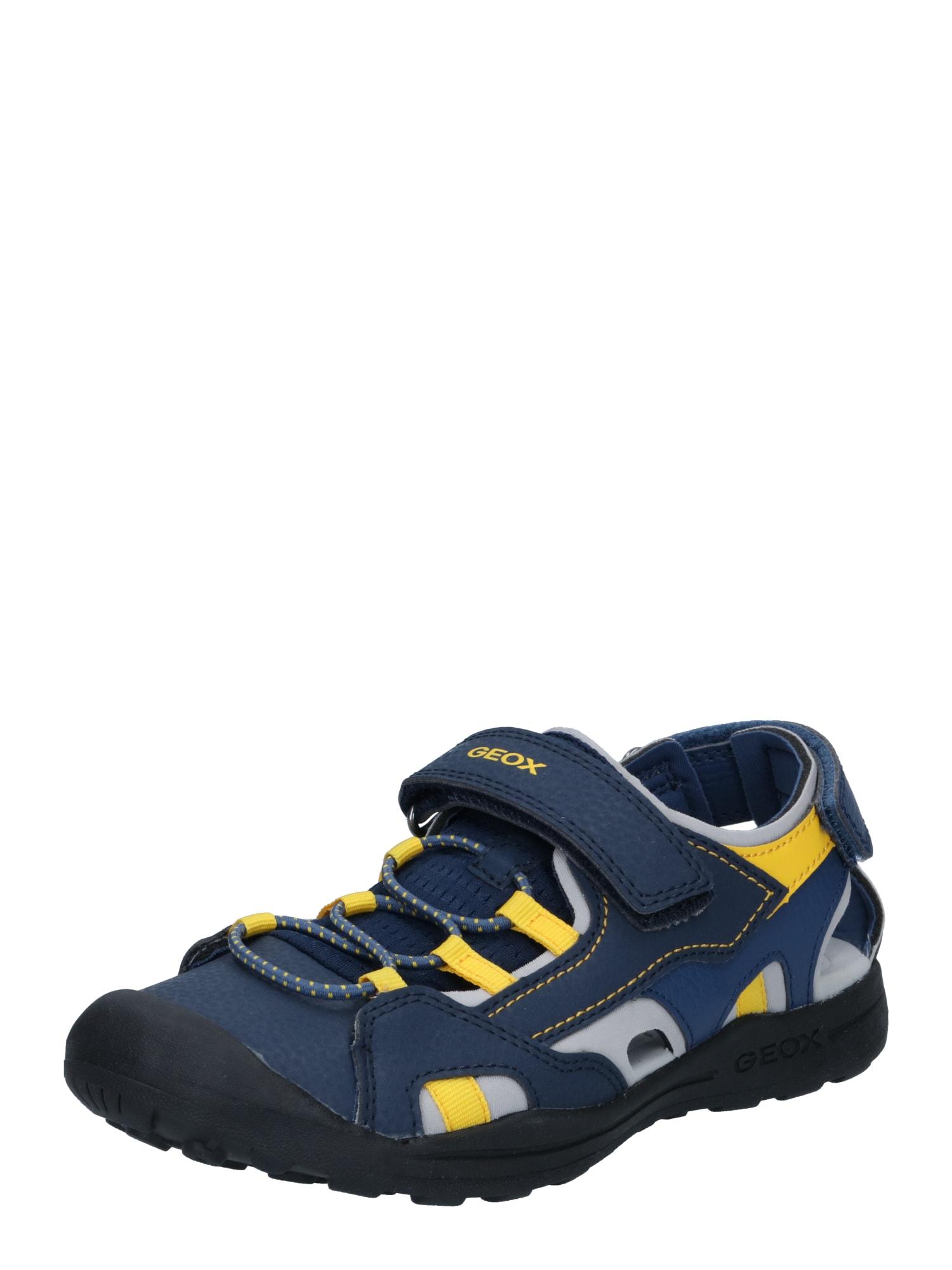 GEOX Atviri batai 'VANIETT' tamsiai mėlyna / geltona