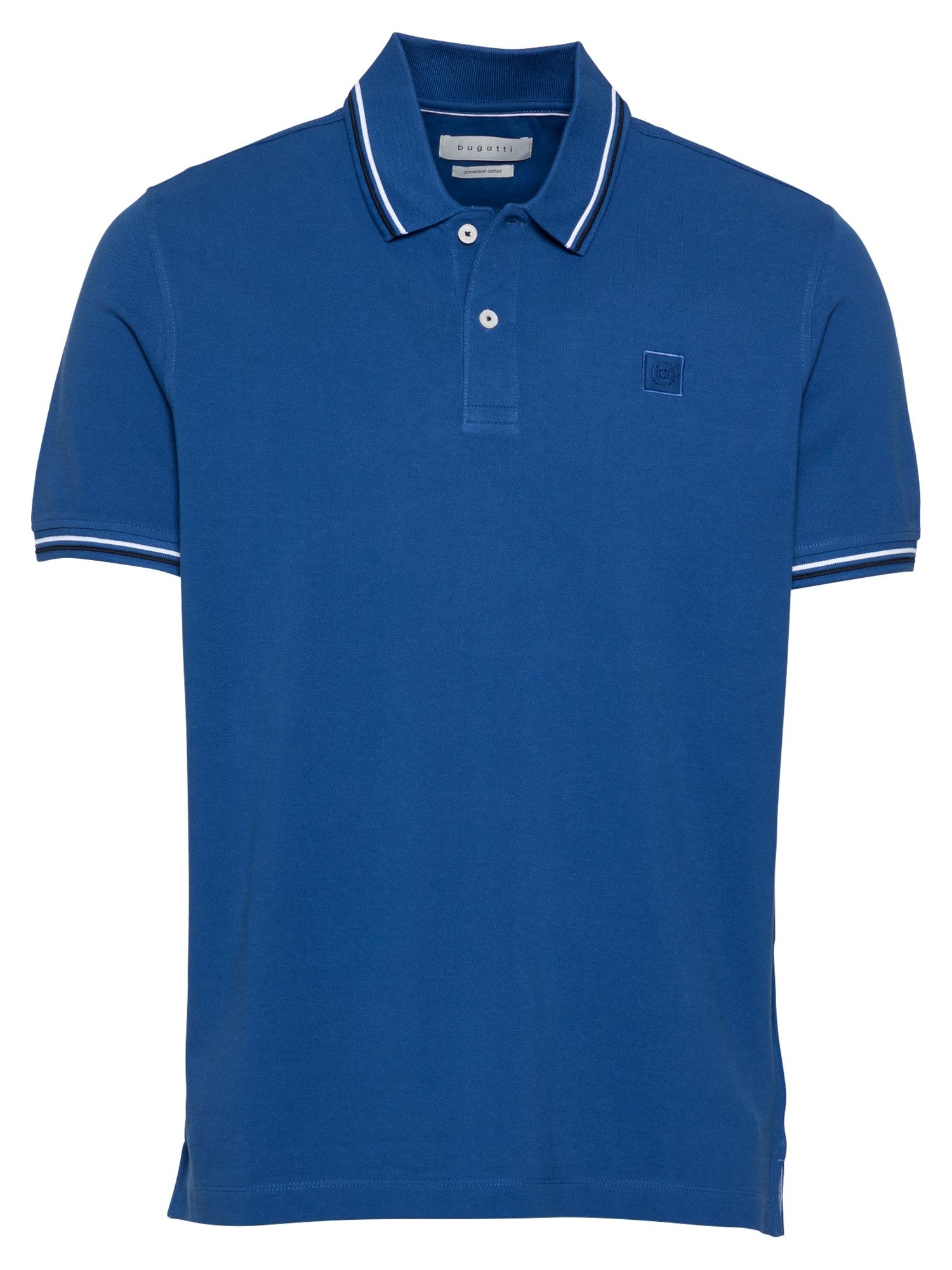 bugatti Marškinėliai mėlyna / balta / juoda
