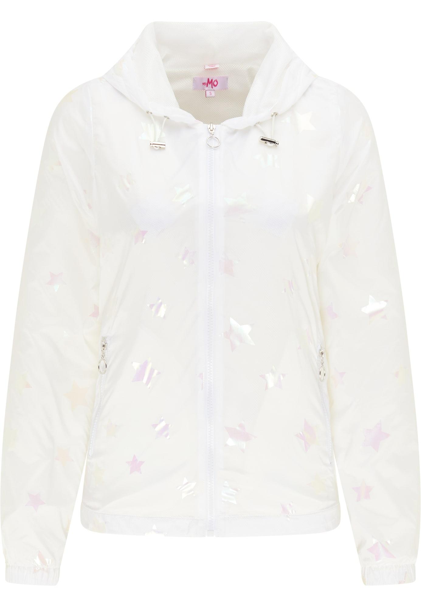 MYMO Demisezoninė striukė balta / pastelinė rožinė / pastelinė geltona