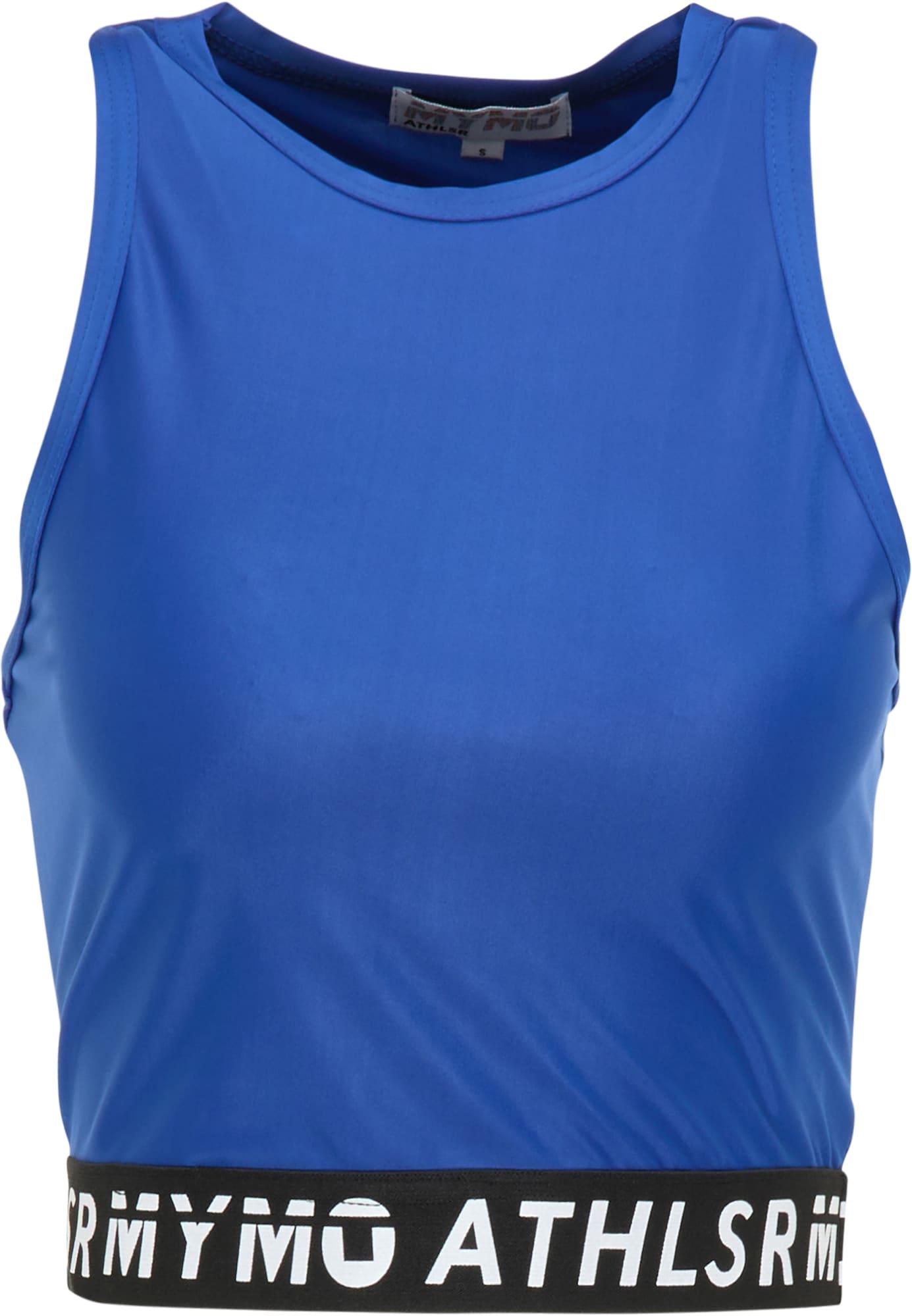 myMo ATHLSR Sportiniai marškinėliai be rankovių mėlyna / juoda / balta