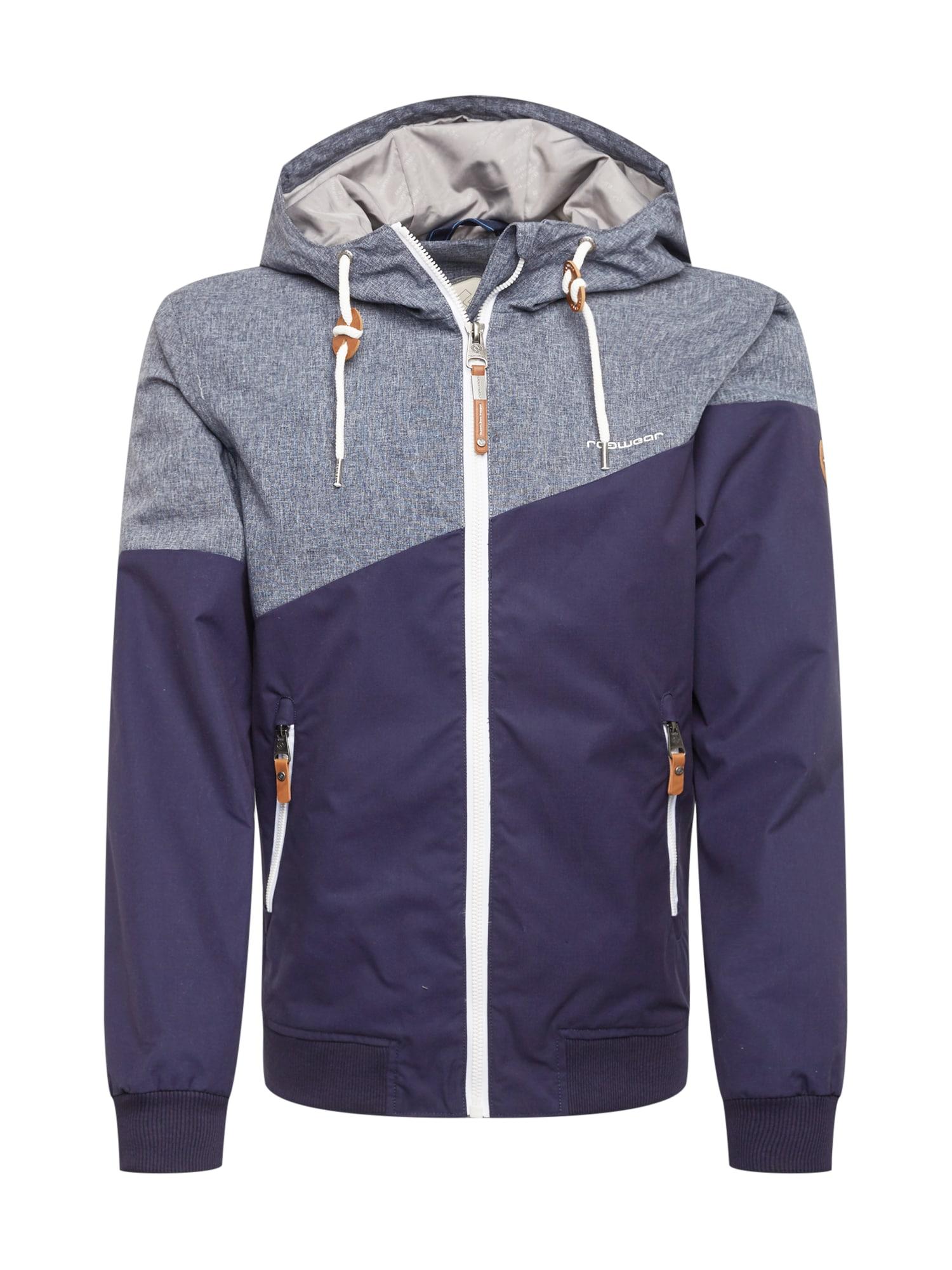 Ragwear Demisezoninė striukė pilka / tamsiai violetinė