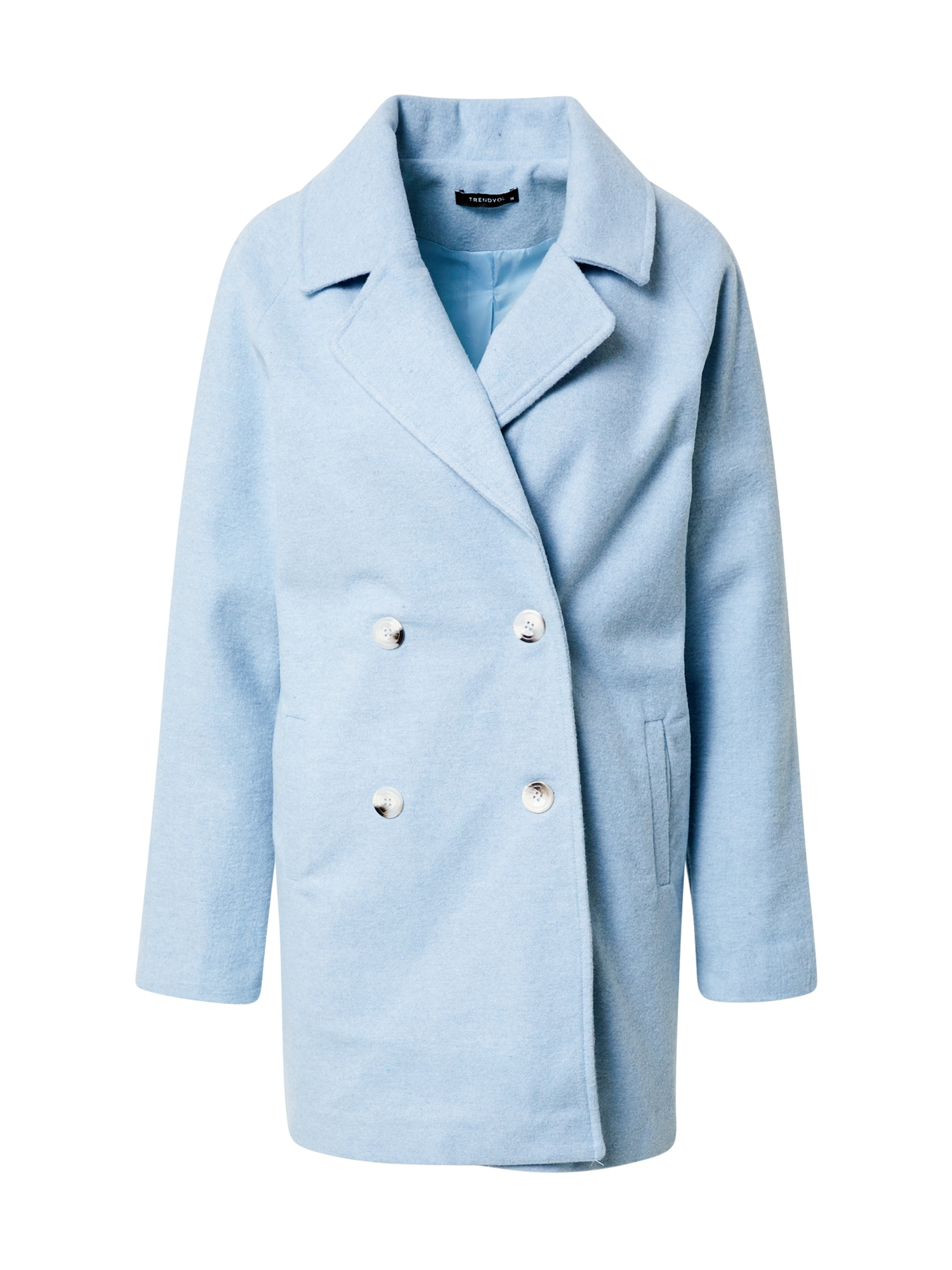Trendyol Demisezoninis paltas šviesiai mėlyna