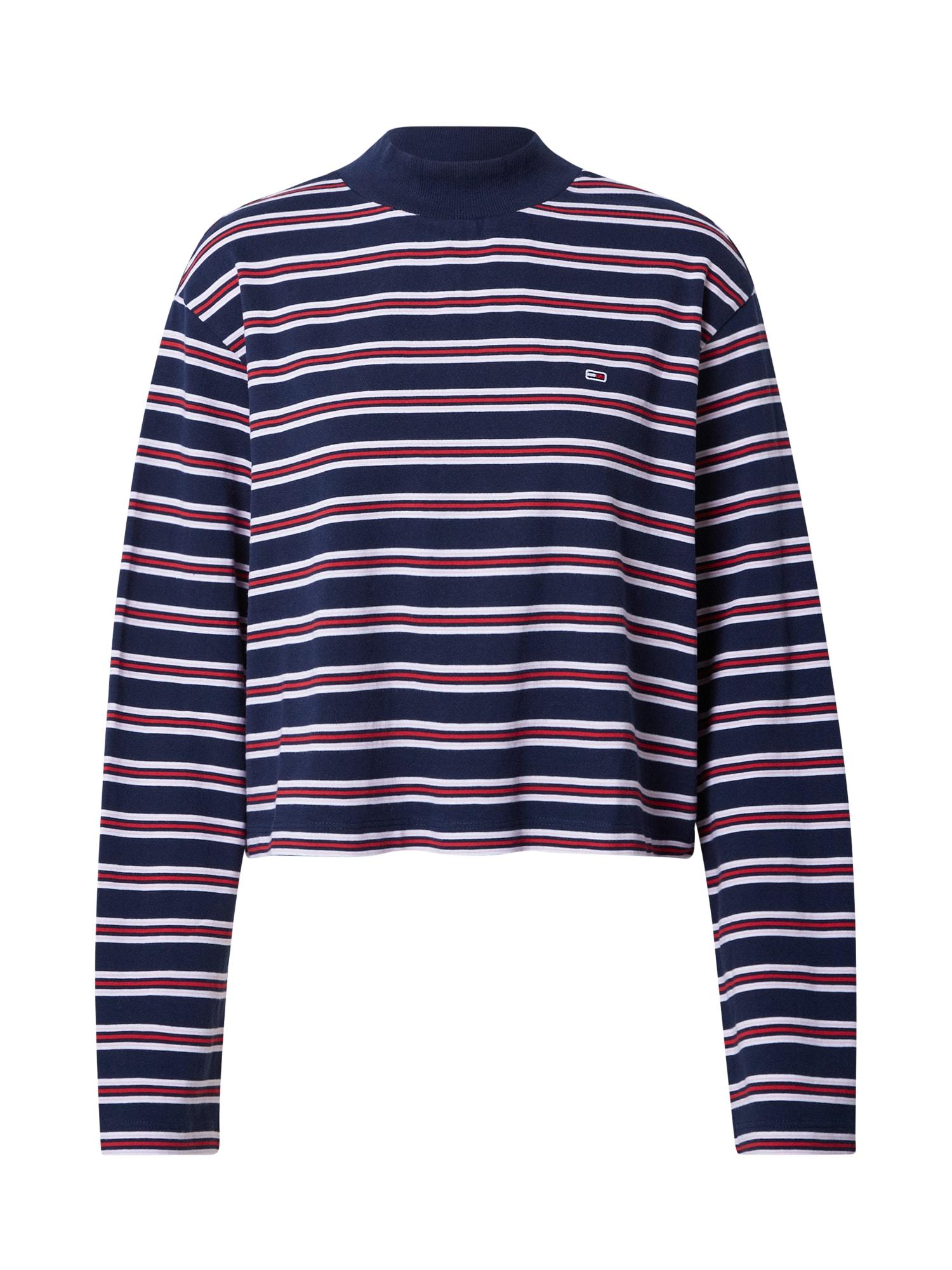 Tommy Jeans Tričko  námořnická modř / červená / bílá