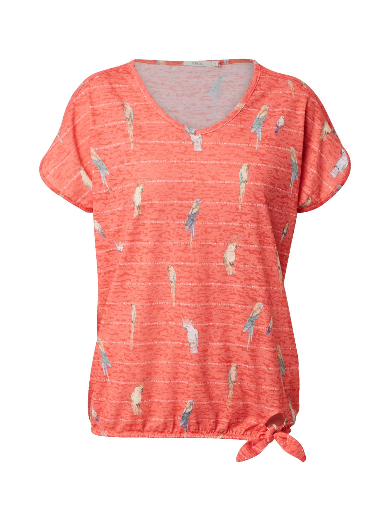 CECIL Marškinėliai raudona / mišrios spalvos