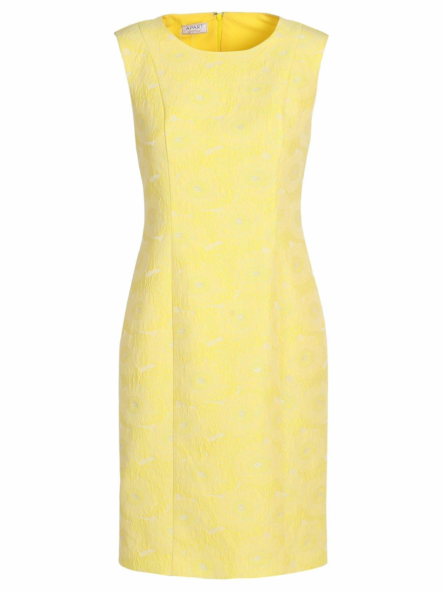 APART Trumpa kokteilinė suknelė geltona