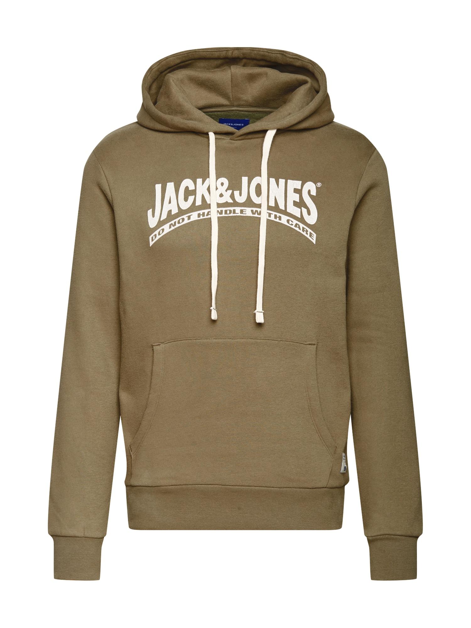 Jack & Jones Plus Megztinis be užsegimo žalia / balta
