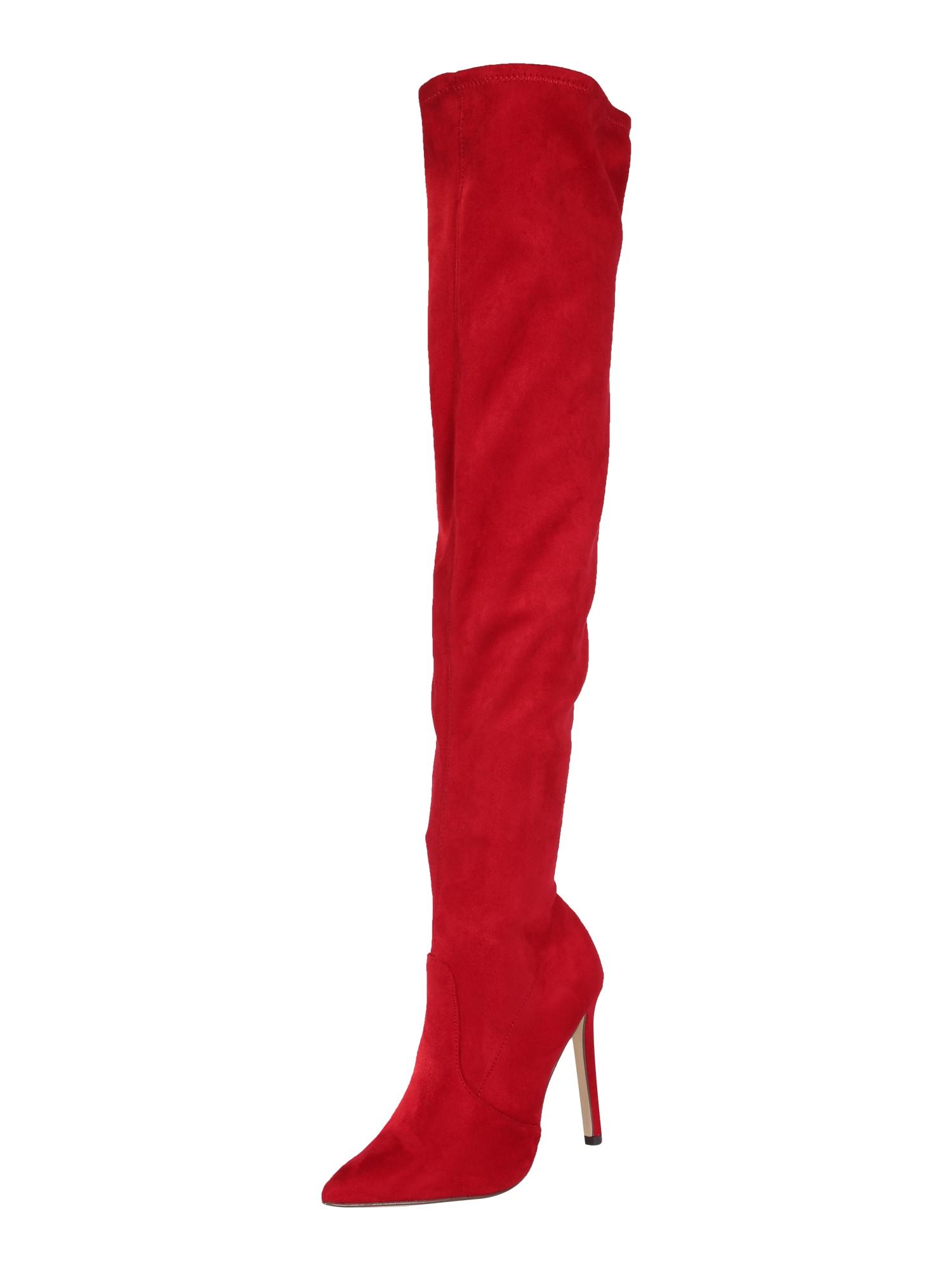 CALL IT SPRING Ilgaauliai batai virš kelių raudona