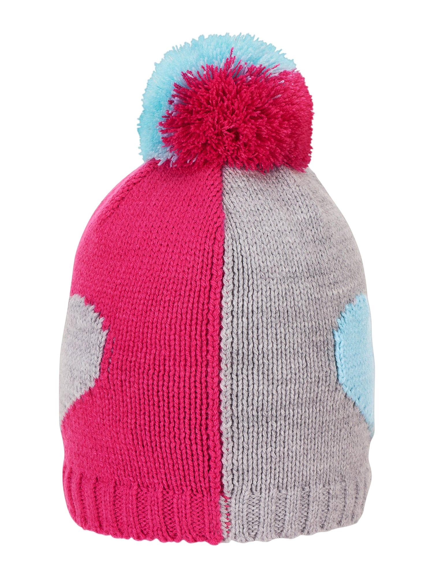 STERNTALER Megzta kepurė rožinė / šviesiai pilka / šviesiai mėlyna