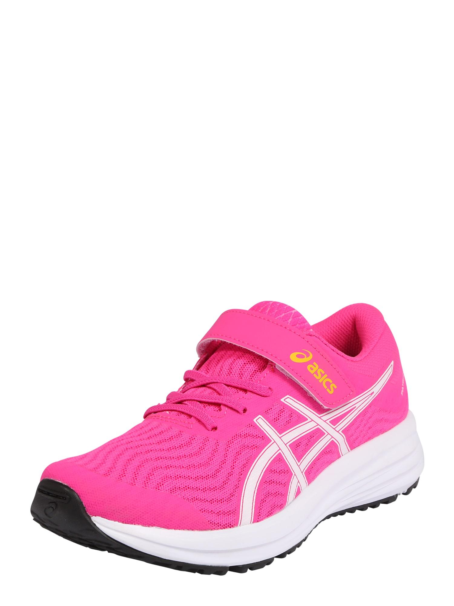 ASICS Sportiniai batai 'PATRIOT 12' balta / neoninė rožinė