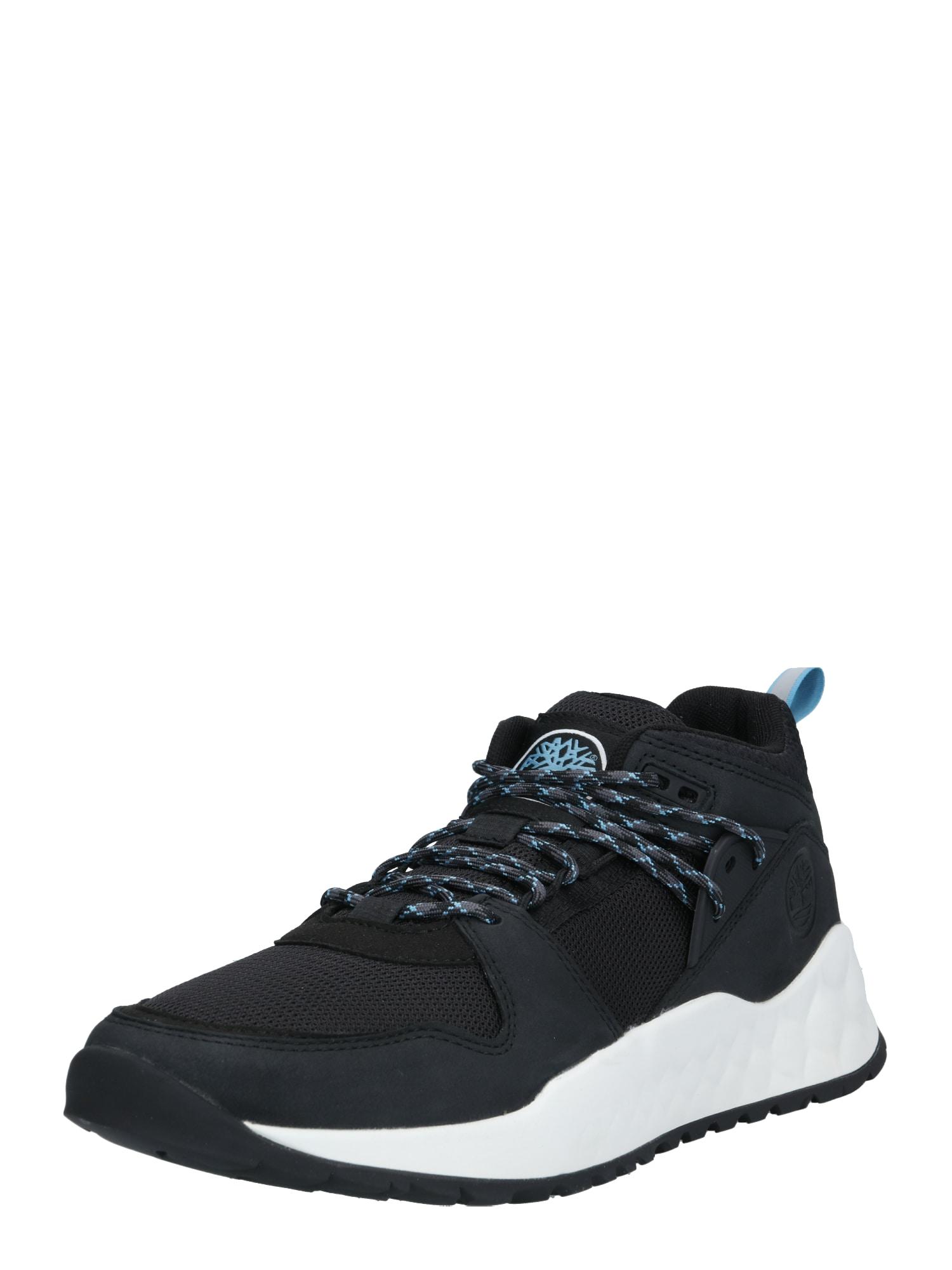 TIMBERLAND Sportinio stiliaus batai su raišteliais juoda / mėlyna