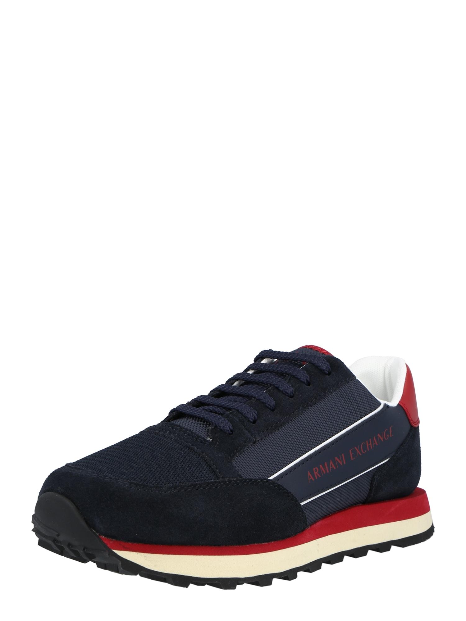 ARMANI EXCHANGE Nízke tenisky  námornícka modrá / červená / biela