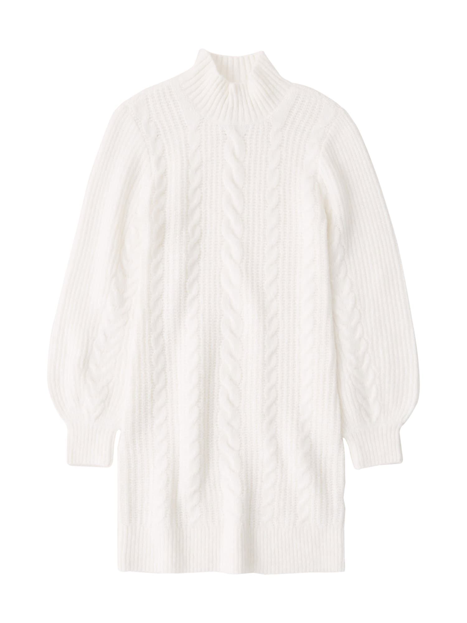 Abercrombie & Fitch Megzta suknelė balta