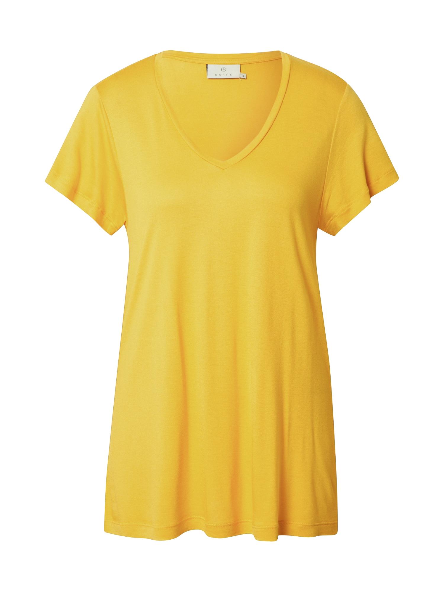 Kaffe Marškinėliai aukso geltonumo spalva