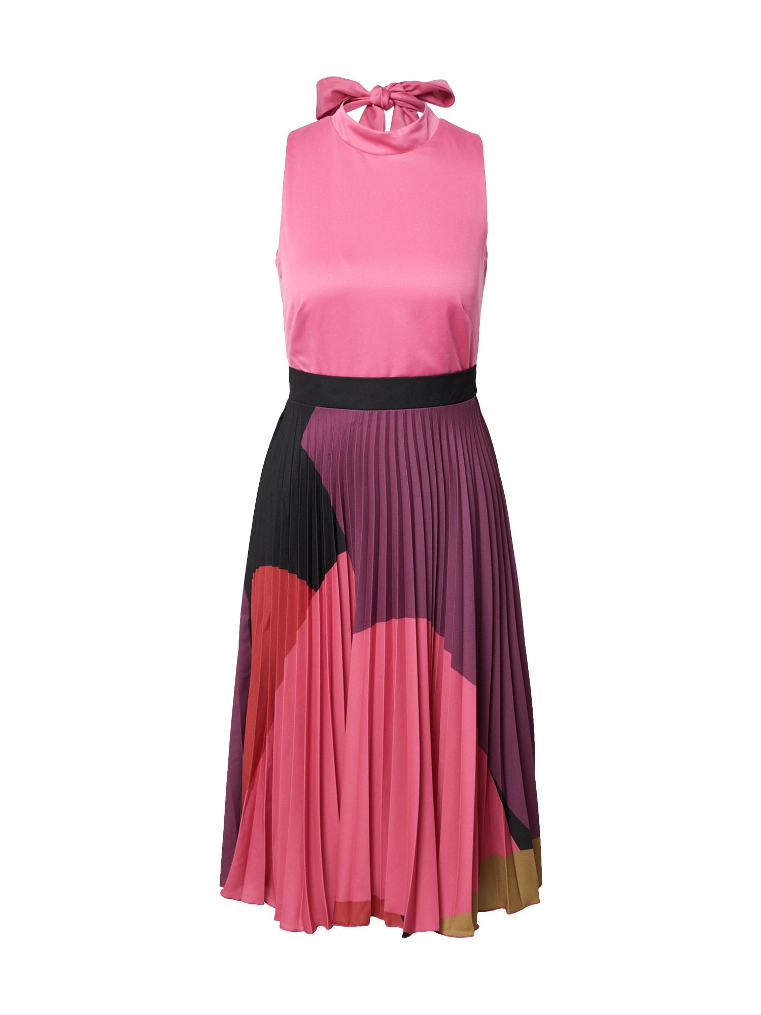Closet London Suknelė fuksijų spalva / rožinė / pitajų spalva / juoda / garstyčių spalva