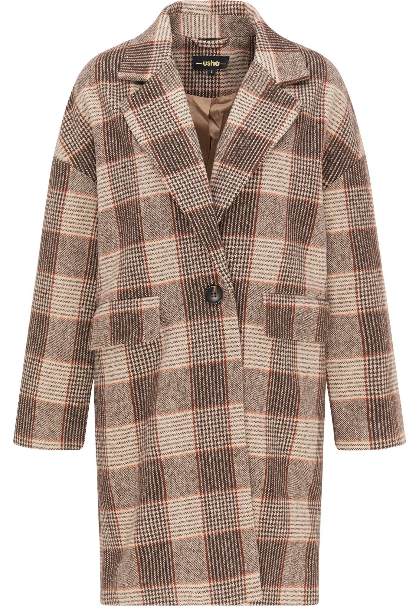 usha BLACK LABEL Demisezoninis paltas ruda / smėlio / tamsiai ruda