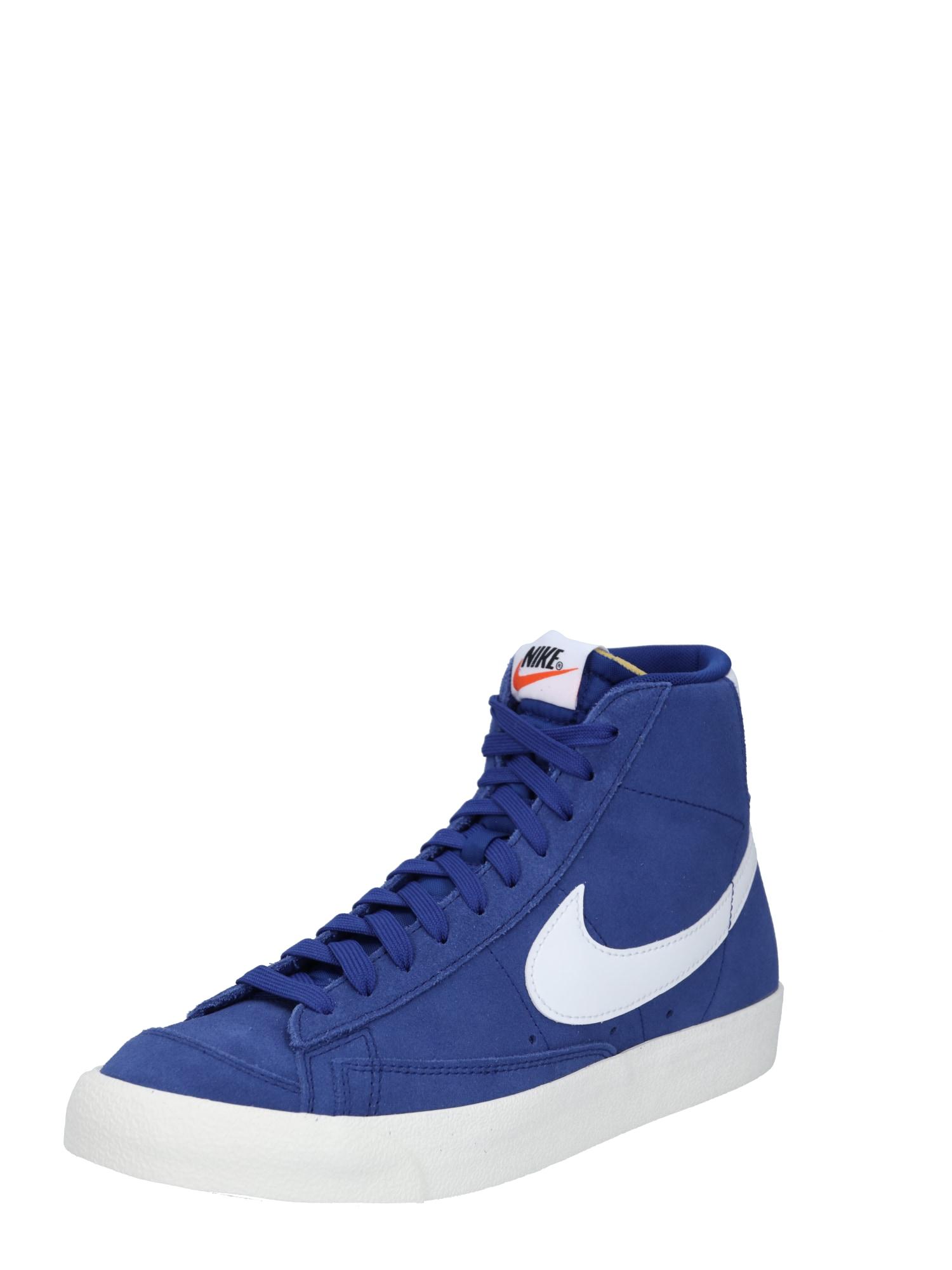 Nike Sportswear Členkové tenisky 'Blazer 77'  biela / kráľovská modrá