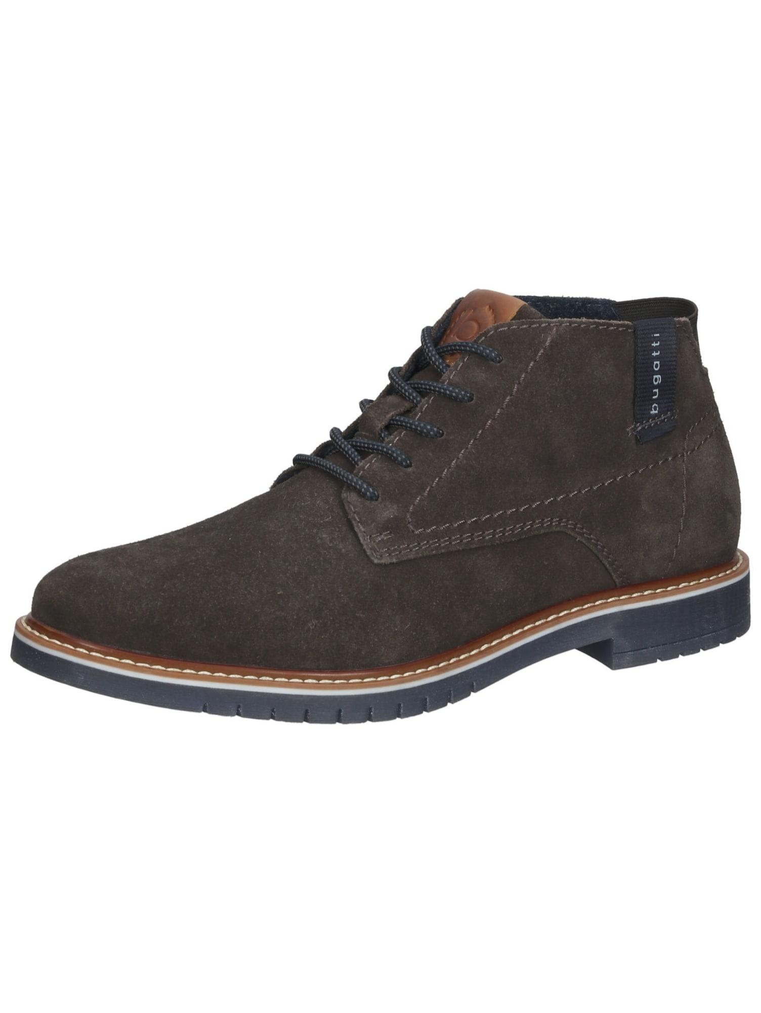 bugatti Auliniai batai su raišteliais purvo spalva