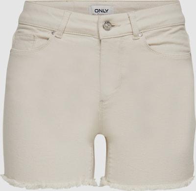 Only Blush Skinny Fit Shorts mit rohem Saum