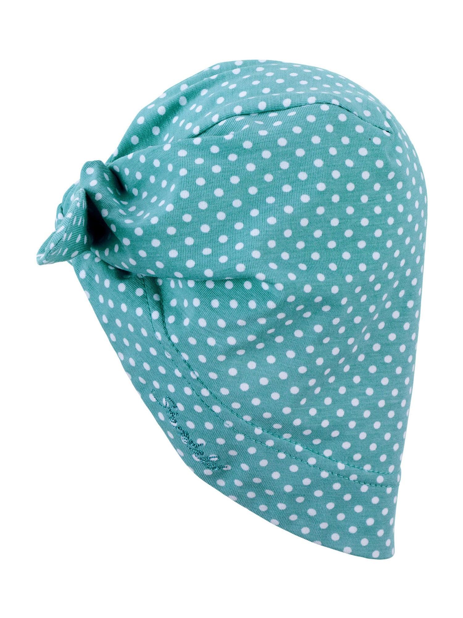 STERNTALER Megzta kepurė nefrito spalva / balta