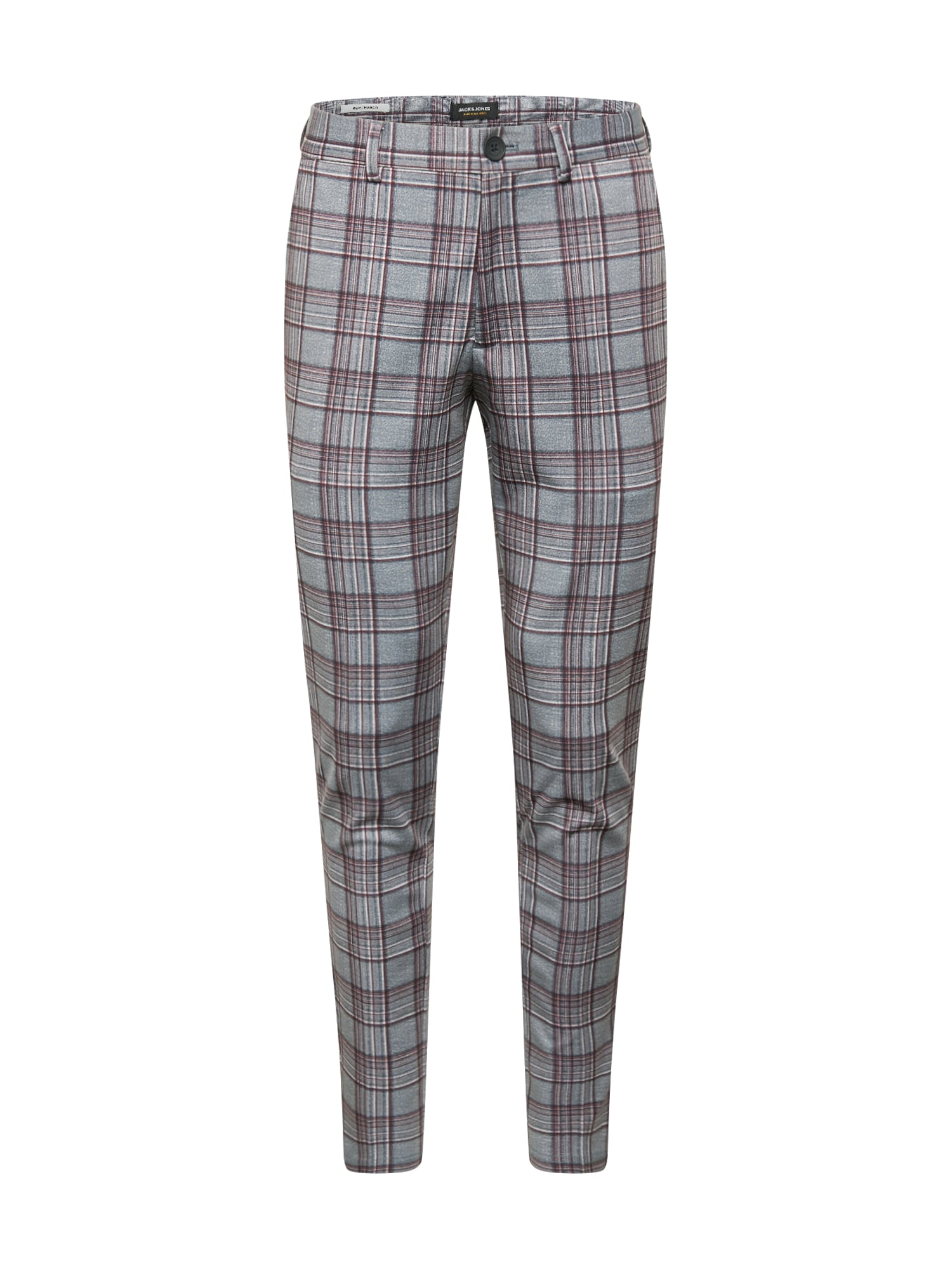 Jack & Jones Junior Kelnės skaisti avietinė ar rubino spalva / pilka / balta