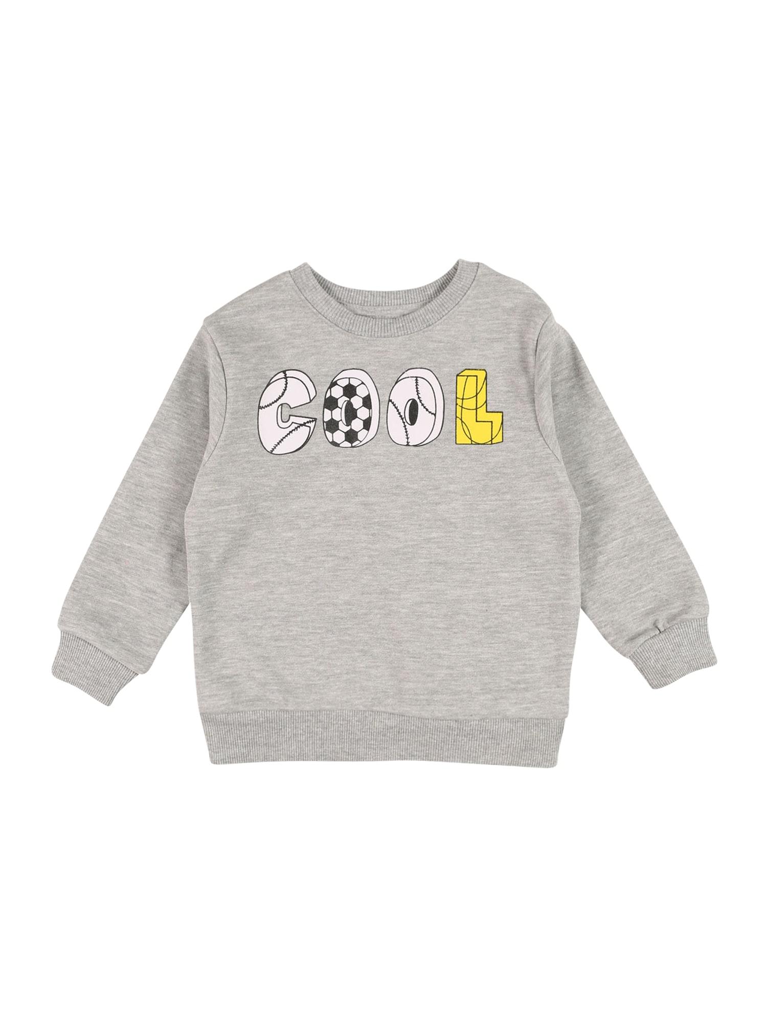 MINOTI Megztinis be užsegimo margai pilka / balta / juoda / geltona