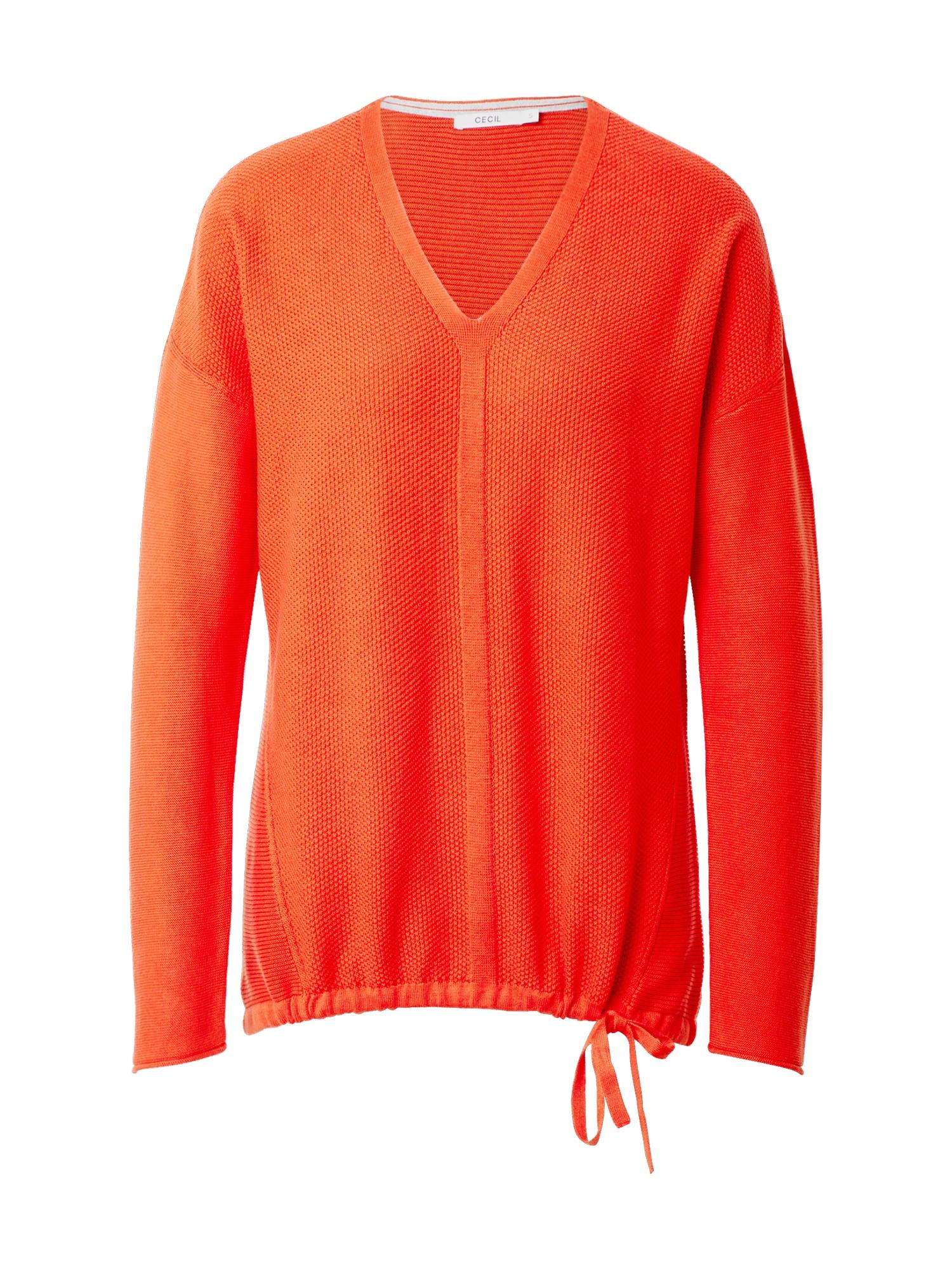 CECIL Megztinis oranžinė