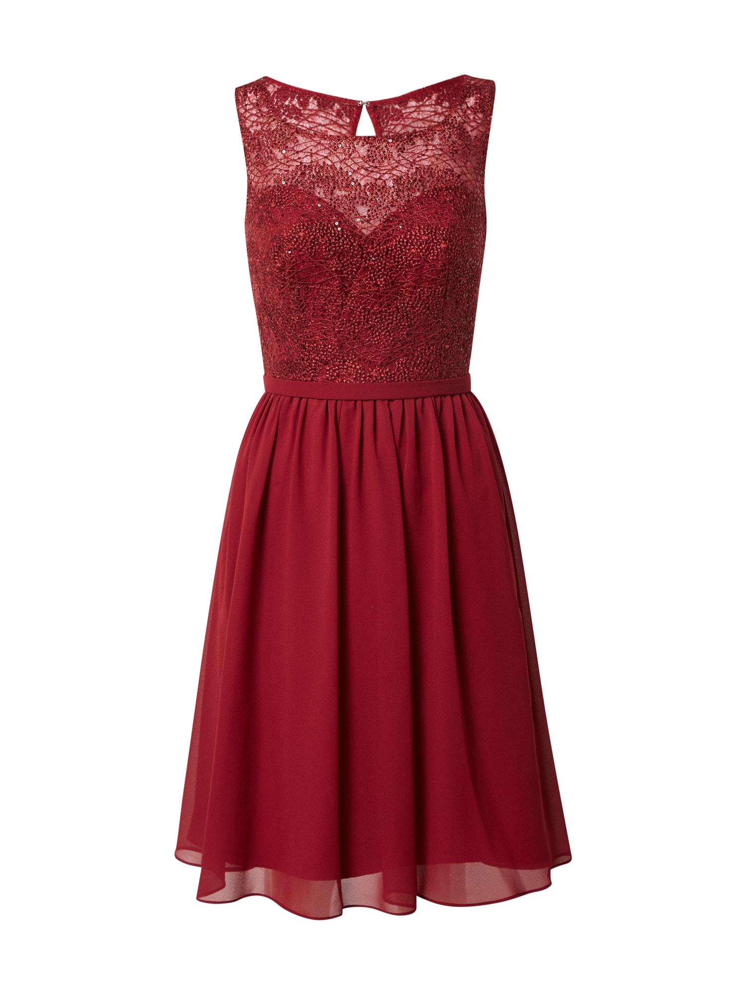 mascara Koktejlové šaty  vínově červená
