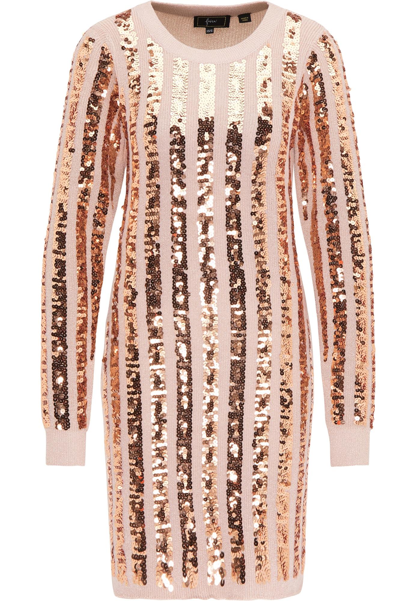 faina Megzta suknelė rožių spalva / rožinio aukso spalva