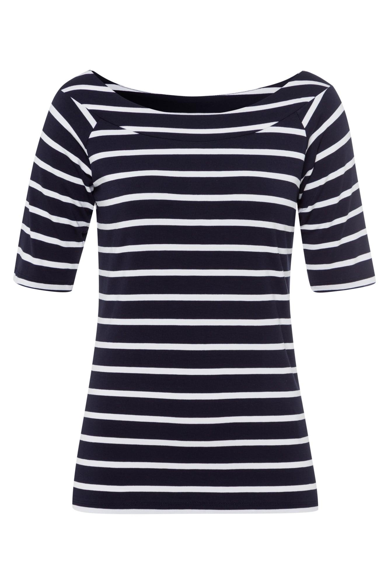 MORE & MORE Marškinėliai balta / tamsiai mėlyna