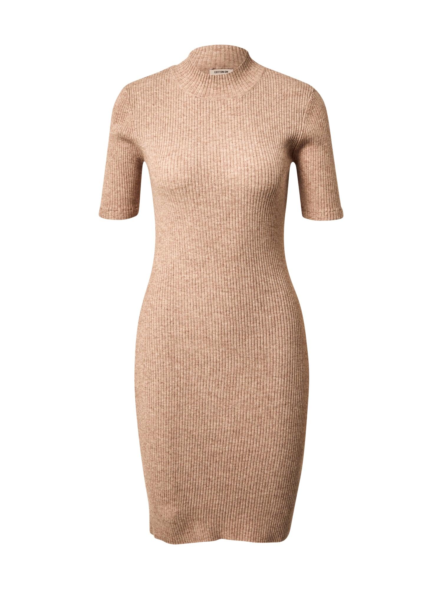 Cotton On Úpletové šaty 'Tahlia'  béžový melír