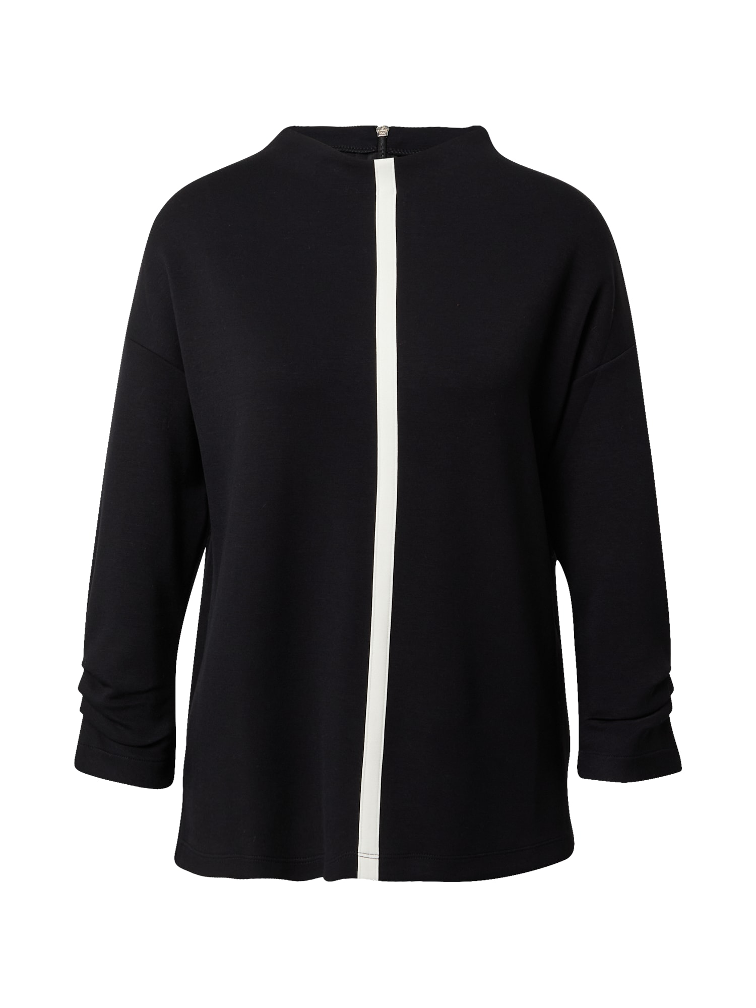 s.Oliver BLACK LABEL Marškinėliai juoda / balta