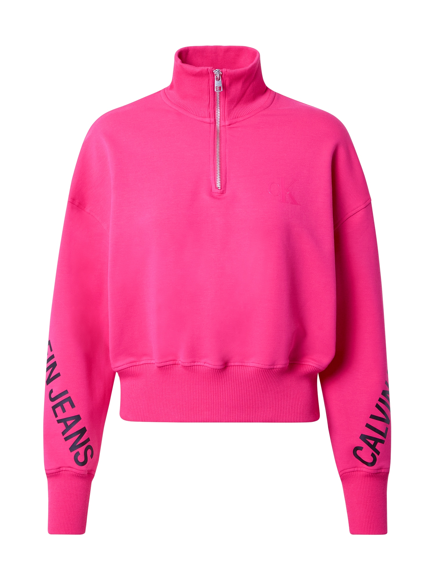 Calvin Klein Jeans Megztinis be užsegimo rožinė / tamsiai mėlyna