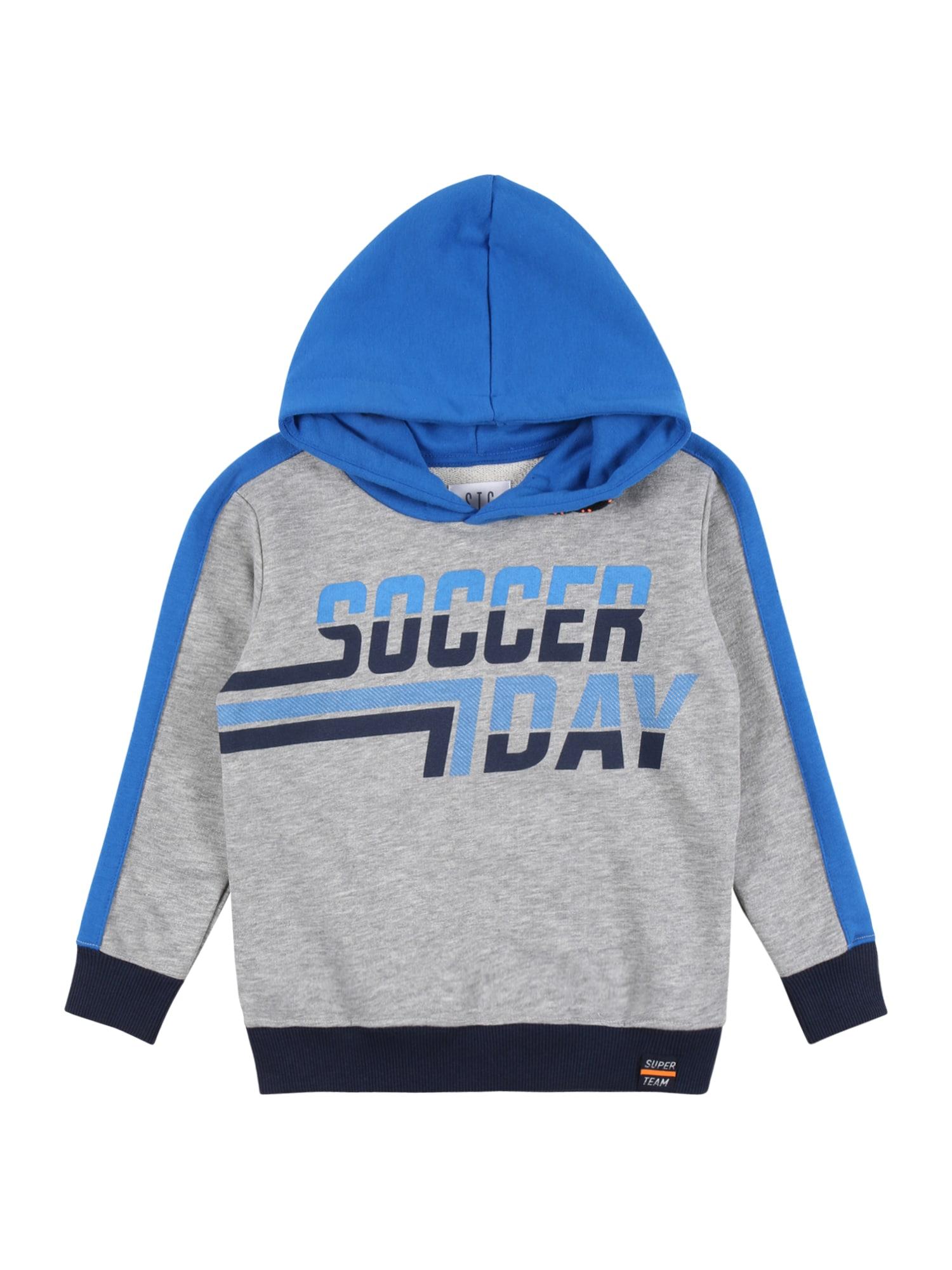 STACCATO Megztinis be užsegimo margai pilka / mėlyna / tamsiai mėlyna