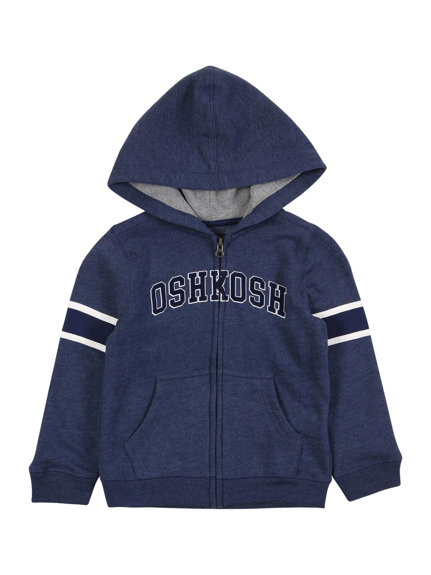 OshKosh Džemperis tamsiai mėlyna / balta / margai pilka