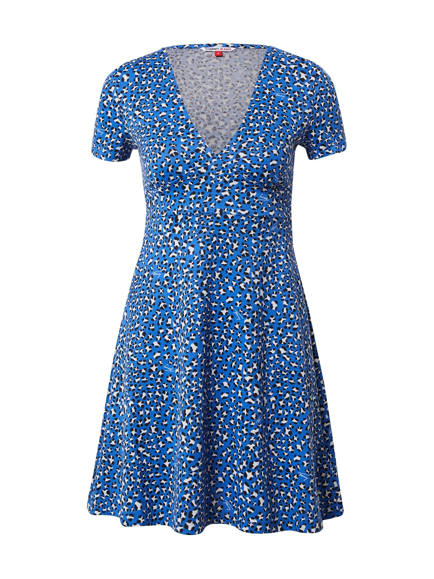 Tommy Jeans Vasarinė suknelė mėlyna / balta / juoda
