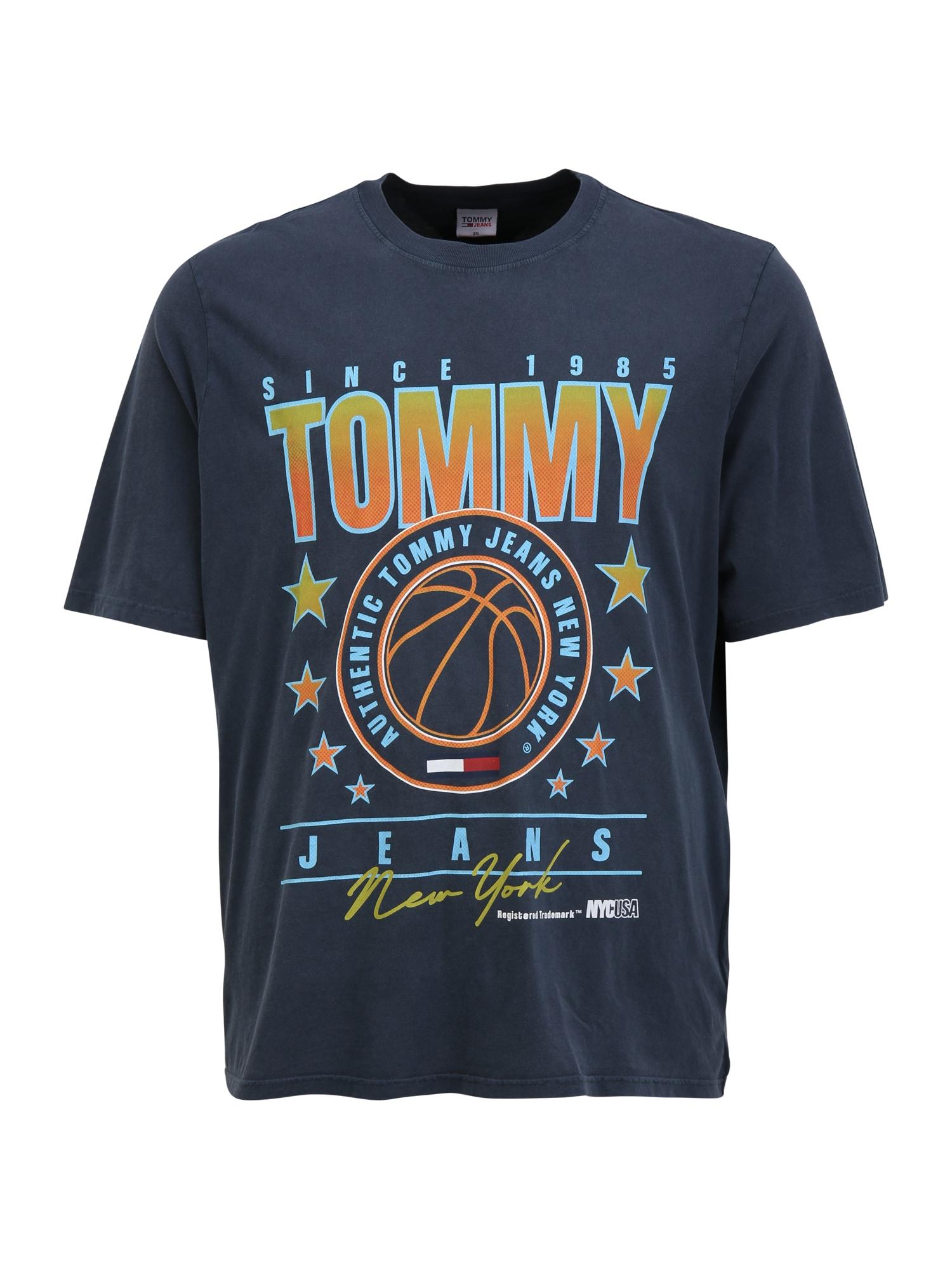Tommy Jeans Plus Marškinėliai tamsiai mėlyna / šviesiai mėlyna / oranžinė / geltona
