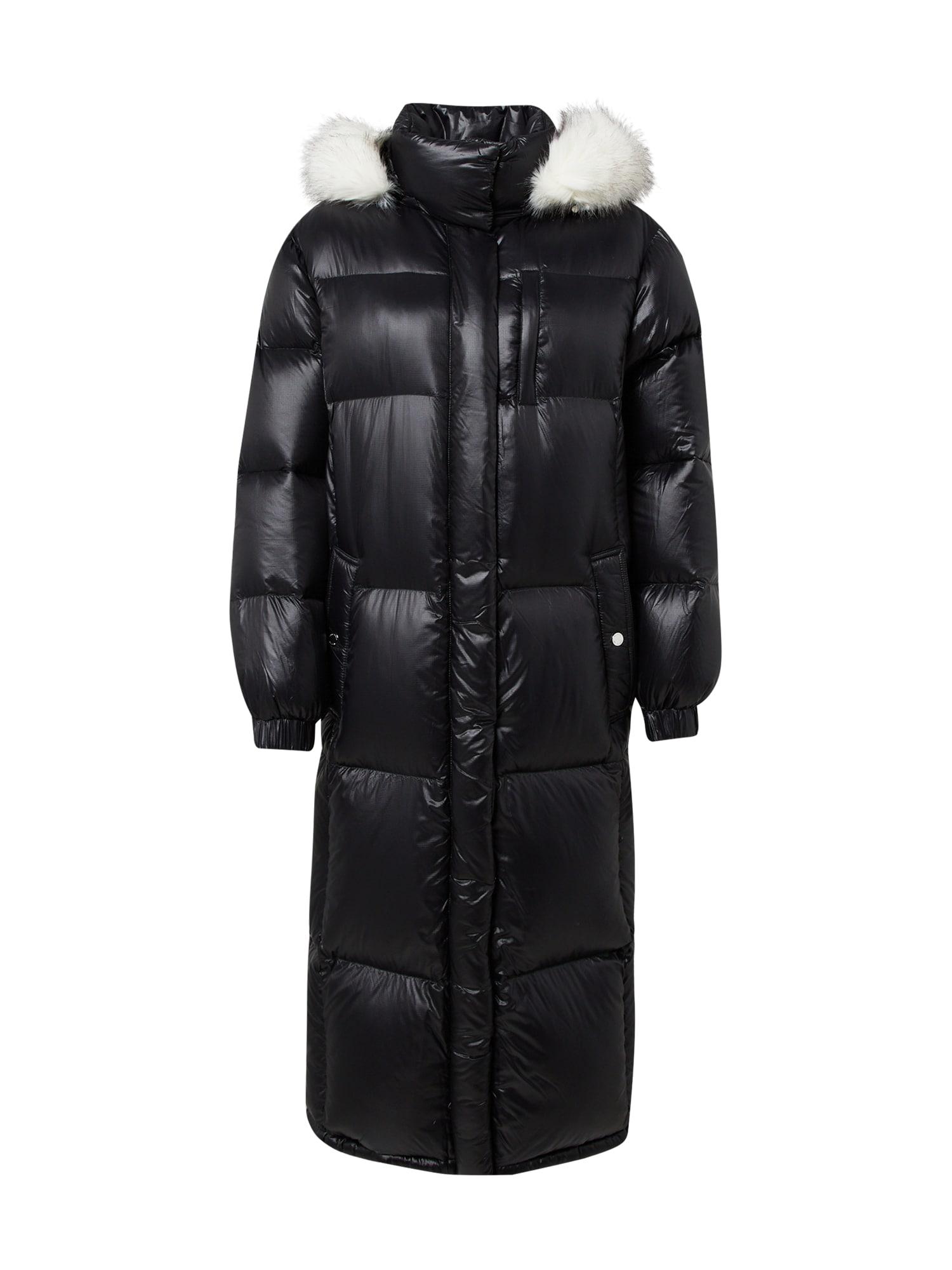 MICHAEL Michael Kors Demisezoninis paltas juoda / balta