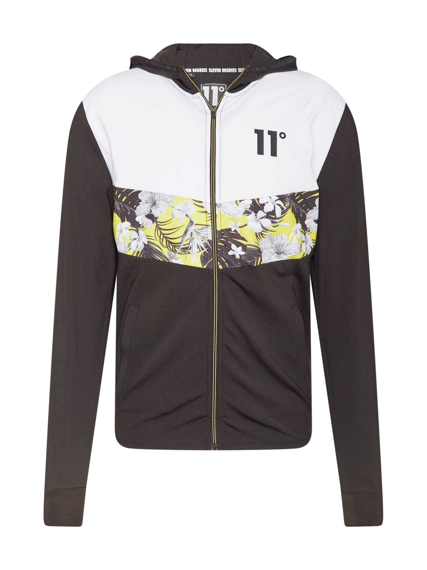 11 Degrees Džemperis balta / juoda / geltona