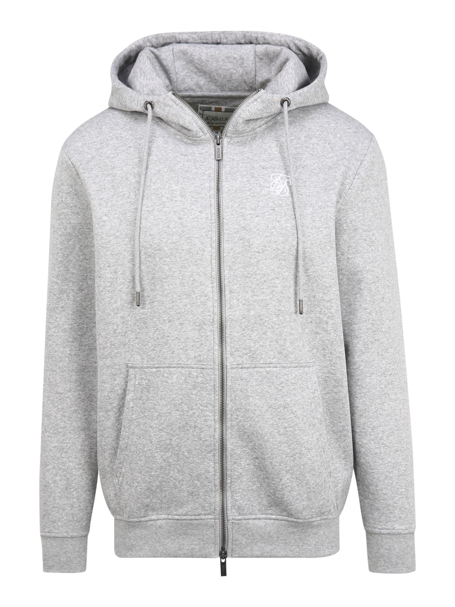SikSilk Džemperis margai pilka / balta