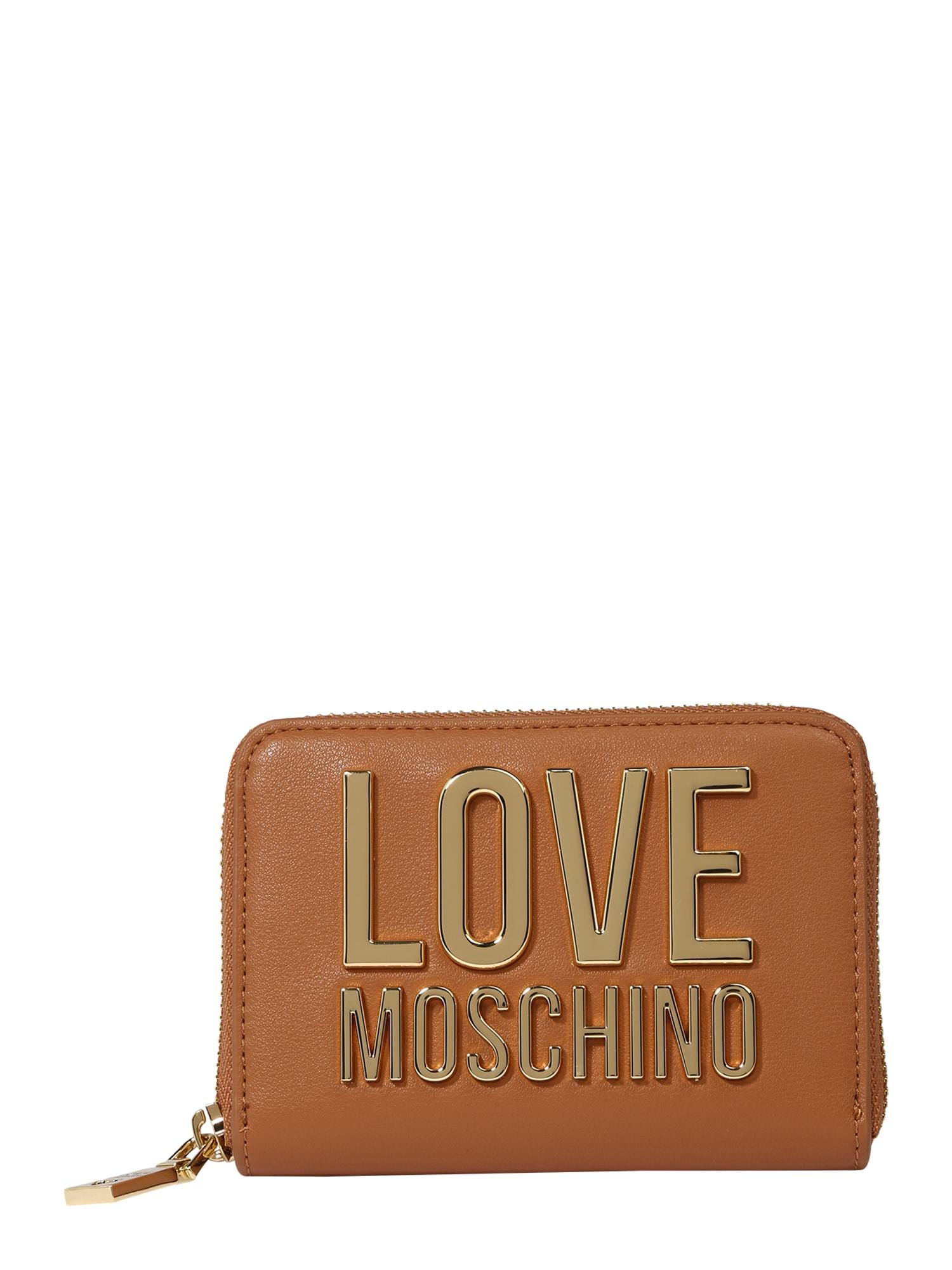 Love Moschino Piniginė ruda (konjako) / auksas